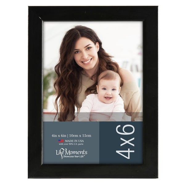 Life Moments Black Wood Frames (Pack of 6) - Free Shipping On Orders ...