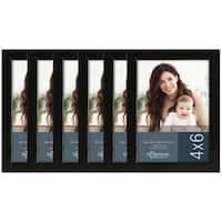 Life Moments Black Wood Frames (Pack of 6)