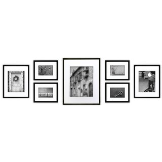 Gallery Perfect 7-piece Black Frame Kit