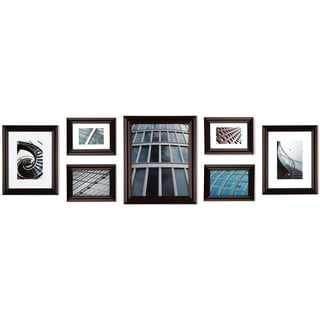 Gallery Perfect 7-piece Walnut Snapshot Frame Kit