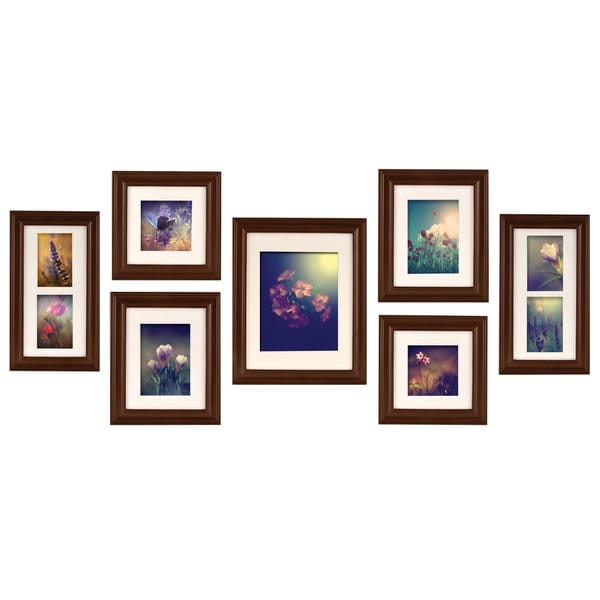 Shop Gallery Perfect Brown Walnut 7-piece Create A Gallery Frame Kit ...