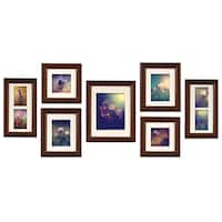 Gallery Perfect Brown Walnut 7-piece Create A Gallery Frame Kit