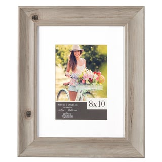Whitewash Scoop Matted Frame