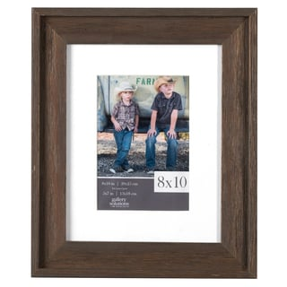 Gallery Solutions Brown Barnwood Matted Frame