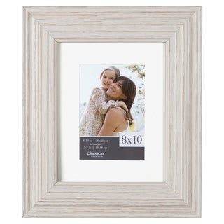 Whitewashed Wood Wide Matted Gallery Frame
