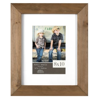 Gallery Solutions Brown Rustic Wood Matted Gallery Frame