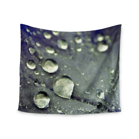 Kess InHouse Iris Lehnhardt 'Water Droplets Blue' 51x60-inch Wall Tapestry