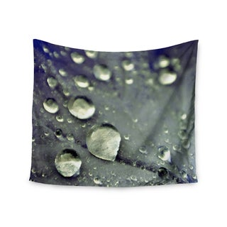 Kess InHouse Iris Lehnhardt 'Water Droplets Blue' 51x60-inch Wall Tapestry