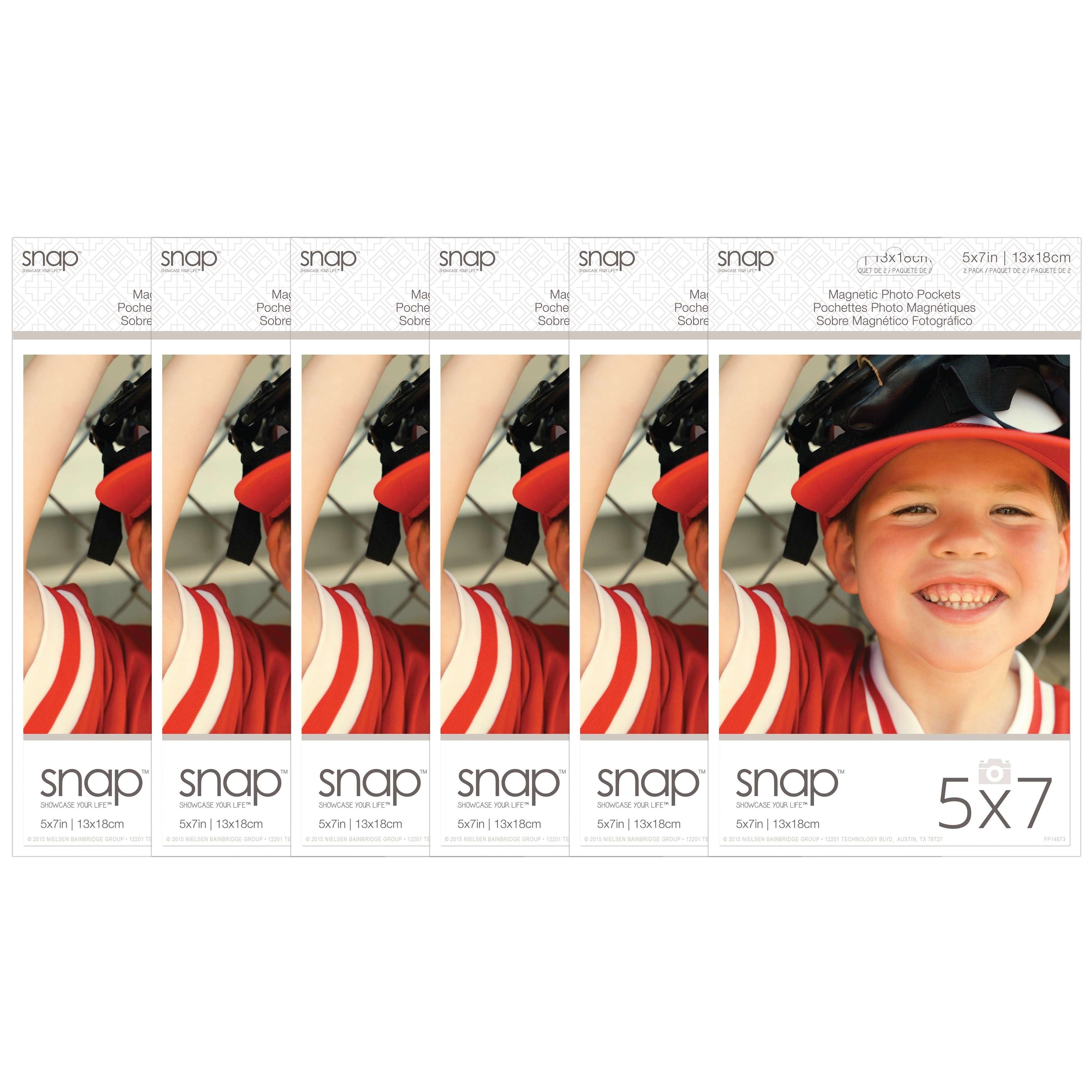 Snap 2 Pack of Magnetic Photo Pocket Frames (5x7), Clear ...