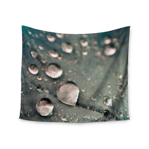 Kess InHouse Iris Lehnhardt 'Water Droplets Grey' 51x60-inch Wall Tapestry