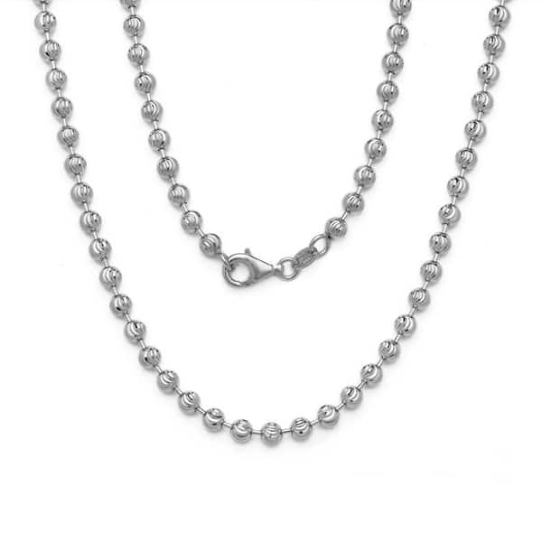 65278720c69f6 Shop Decadence 14K White Gold Moon-cut Chain - Free Shipping Today ...