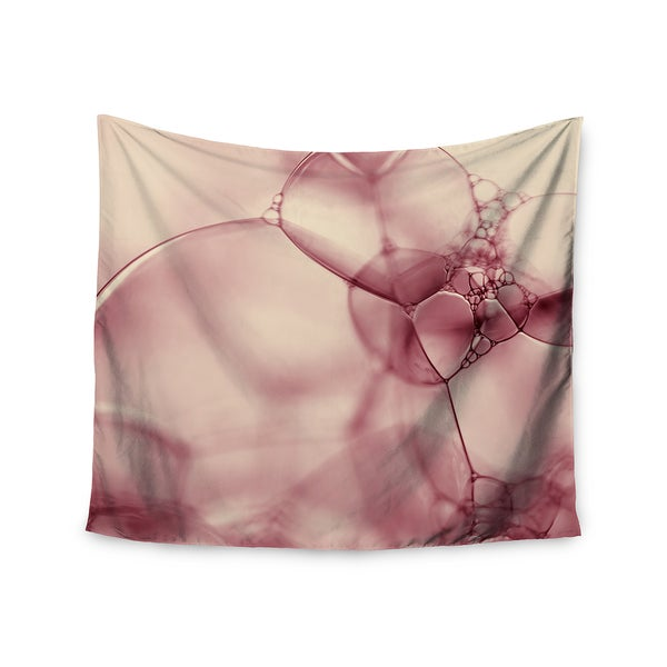 Kess InHouse Ingrid Beddoes 'Pink Bubbles' 51x60-inch Wall Tapestry