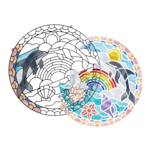 Melissa & Doug Dolphins Stained Glass Dolphins