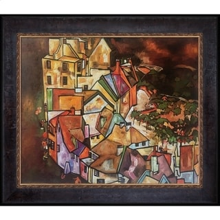 Egon Schiele 'Edge of Town (Krumau Town Crescent), 1918' Hand Painted Framed Canvas Art