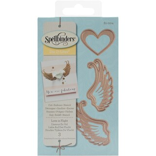 Spellbinders Shapeabilities Die D-Lites Love In Flight