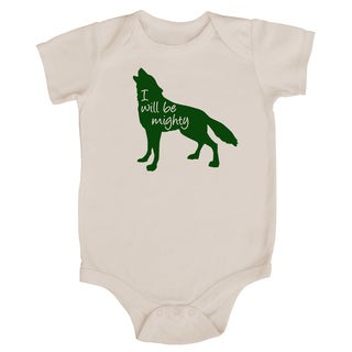 "Rocket Bug ""I Will Be Mighty"" Wolf Baby Bodysuit (5 options available)"