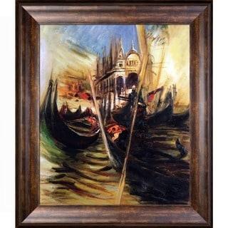 Giovanni Boldini 'San-Marco In Venice, 1895' Hand Painted Framed Canvas Art