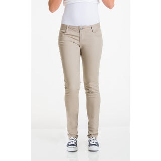 Lee Juniors' Khaki Cotton/Spandex 5-pocket Skinny Pants