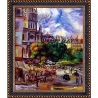 Pierre-Auguste Renoir 'Church of the Holy Trinity in Paris, 1892-93' Hand Painted Framed Canvas Art