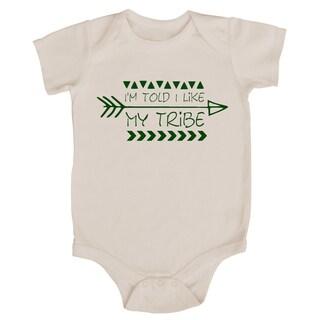 "Rocket Bug ""I'm Told I Like My Tribe"" Baby Bodysuit"