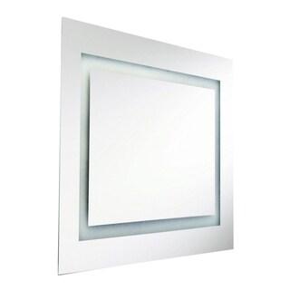 Dainolite 80-watt Square Illuminated Interior 36-inch Mirror - Silver