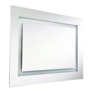 Dainolite 66-watt Rectangular Illuminated Interior Mirror - Silver