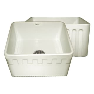 Fireclay Reversible Sink With Athinahaus and Fluted Front Aprons