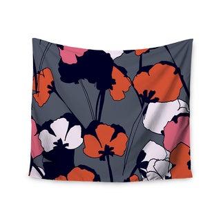 Kess InHouse Gabriela Fuente 'Pop Flowers' 51x60-inch Wall Tapestry