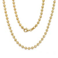 Decadence 14k Yellow Gold 2-millimeter Moon-cut Chain