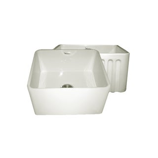 Reversible Series Fireclay Sink with Smooth and Fluted Front Aprons