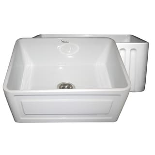 Fireclay Reversible Sink with Raised Panel and Fluted Front Aprons