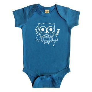 Rocket Bug Tribal Owl Baby Bodysuit
