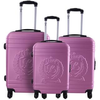 Lollipops Pink 3-piece Molded Hardside Spinner Luggage Set