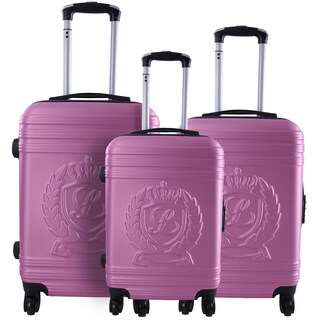 Lollipops Pink 3-piece Molded Hardside Spinner Luggage Set
