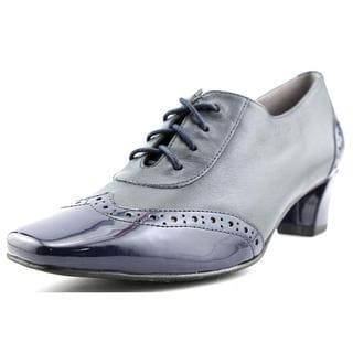 Auditions Women's 'First Class' Blue Leather Dress Shoes