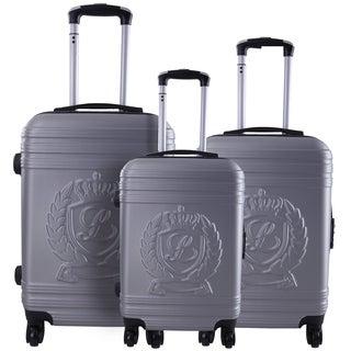 Lollipops Silver 3-piece Molded Hardside Spinner Luggage Set