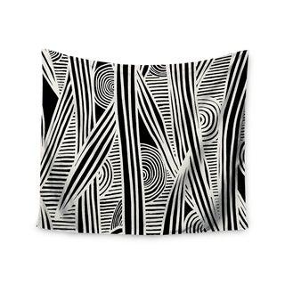Kess InHouse Emine Ortega 'Graphique Black' 51x60-inch Wall Tapestry