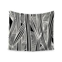 Kess InHouse Emine Ortega 'Graphique Black' 51x60-inch Wall Tapestry