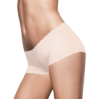 Women's Latte Lift Microfiber and Lace Boyshort
