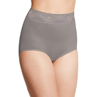 Bali Women's Lacy Skamp Warm Steel Nylon/Spandex Brief Panty