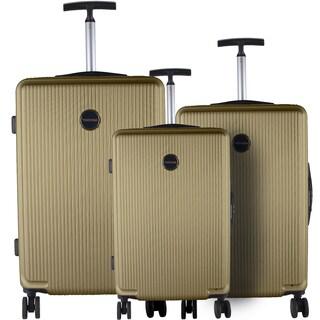 Murano Khaki 3-piece Lightweight Hardside Spinner Luggage Set