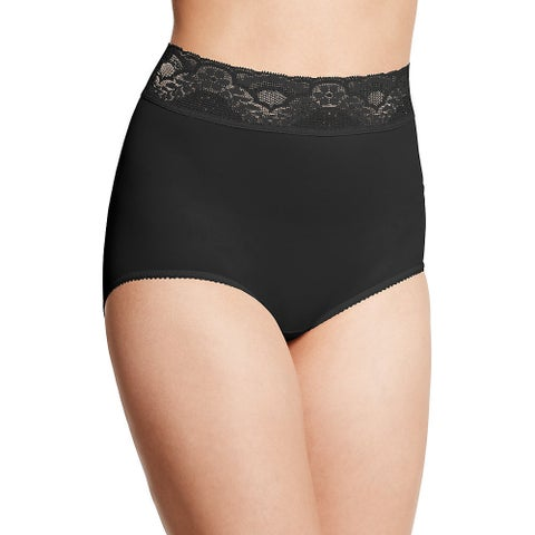 Lacy Skamp Women's Black Nylon Brief Panty