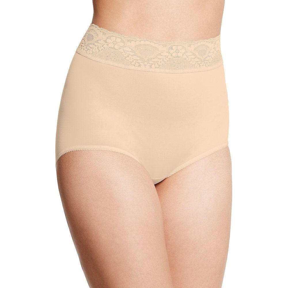 Bali Womens Lacy Skamp Mocha Mist Nylon/Spandex Brief Panty