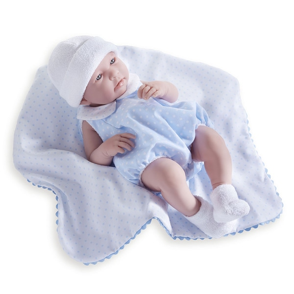 JC Toys Baby Boy Doll with Bubble Suit and Blanket