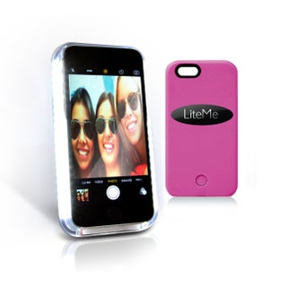 SereneLife Lite-Me Selfie Lighted Smart Case iPhone 6 Plus Multicolor Protection with Built-in Power Bank and LED Lights (2 options available)