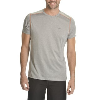 RPX Men's Grey Polyester Cool Tex Shoulder Insert T-shirt