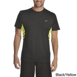 RPX Men's Cool Tex Multicolor Polyester Mesh Detailing T-shirt