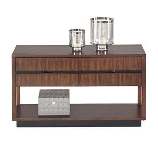 Progressive Sofisticate Brown Veneer Sofa Console Table