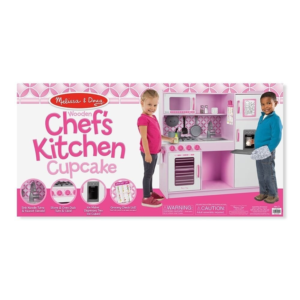 Melissa & Doug Chef\'s Kitchen, Pretend Play Set, Cupcake (Easy to Assemble,  Durable Wooden Construction, Multiple Working Parts)