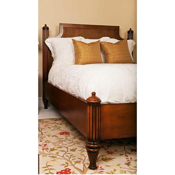 Shop Mahogany Rattan Octagonal Cane California King Bed Free